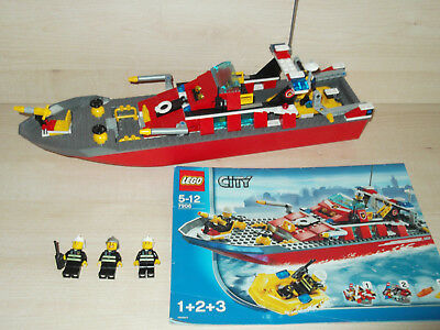 Lego City 7906 Fire Boat With Instructions No Motor Included