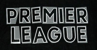 Premier League 2017/18/19 Black Letter Name for Football Shirts Sporting ID