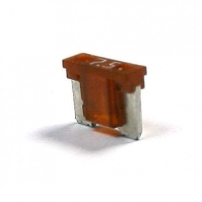 7.5 Amp (A) MICRO BLADE FUSE (Brown) - CAR / TRUCK / AUTOMOBILE - UK STOCK
