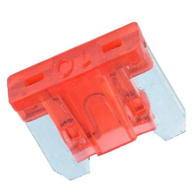 10 Amp (A) MICRO BLADE FUSE (Red) - CAR / TRUCK / AUTOMOBILE - UK STOCK SAME DAY