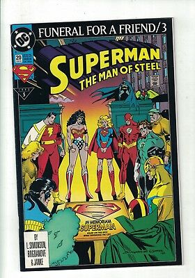 DC Comic Superman The man of Steel, No 20 Feb 1993 Funeral for a Friend/3 $1.25