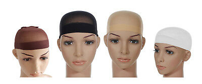 2 Wig Cap Unisex Black Nude Breathable Stocking Nylon Stretch Hair Liner New