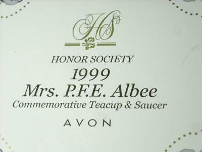 Avon Honor Society 1999 Mrs P.f.e Albee Commemorative Teacup And Saucer