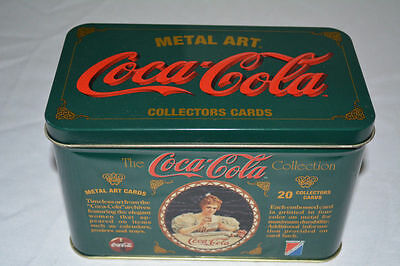 Coca Cola Metal Art Card Collection trading cards 1994 Factory Sealed