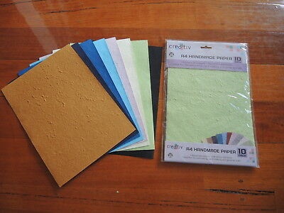 Cre8tiv A4 Handmade paper 10 pack plus 8 loose sheets  BRAND NEW *FREE POSTAGE*