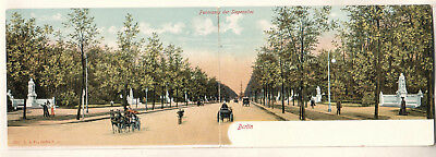 Germany unmailed double-sized post card Berlin Panorama der Siegesallee