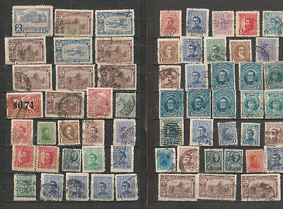 Uruguay lot of 88 stamps