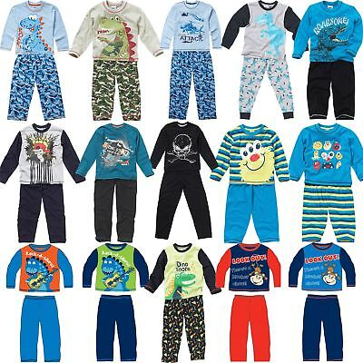 Kids Long Sleeve Pyjamas Boys Girls Childrens Pyjama Set Age 2-13 Years