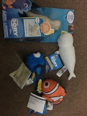 Disney Finding Dory talking mini Plush Dory, Nemo and Bailey all 3 and free gift