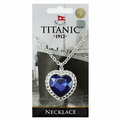 Necklace Titanic Heart of the Ocean Silver Chain