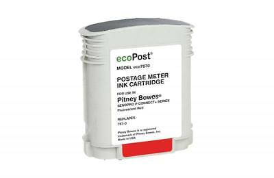 Clover Remanufactured Postage Meter Red Ink Cartridge for Pitney Bowes 787 0