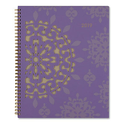 At-A-Glance Vienna Weekly/Monthly Appointment Book 8 1/2 x 11 Purple 2019 122905