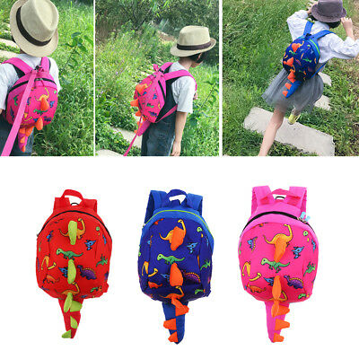 Baby Kids Anti-Lost Strap Walking Safety Harness Leash Dinosaur Backpack