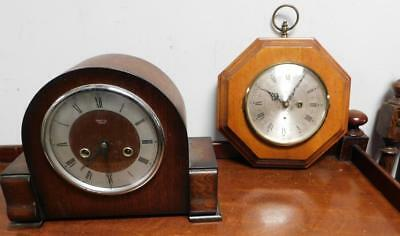 smiths mantel clock and wall clock for restore