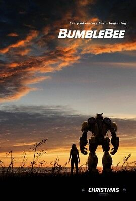 "BumbleBee Movie Poster Travis Knight 2018 Transformers Film Print 24x36"" 27x40"""