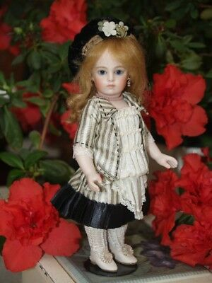 Doll Wig, for tiny Doll Head. Pure 100% mohair mignonette wig, Lovely soft red.