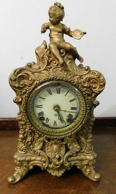 ansonia usa gilt clock for restore