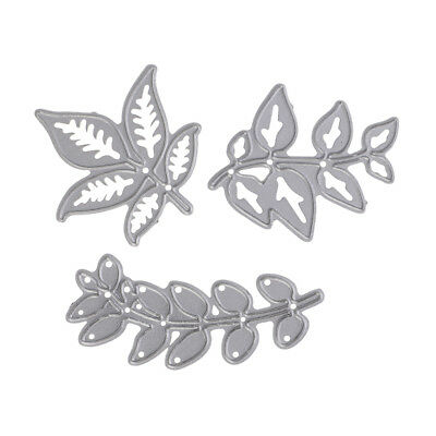 3pcs Leaves Metal Cutting Dies Stencil for Scrapbook Paper Craft Embossing