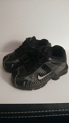 differently 6b595 0a91a ... 50% off nike shox 397202 001 black and silver running shoes toddler  size 5c cb6e2