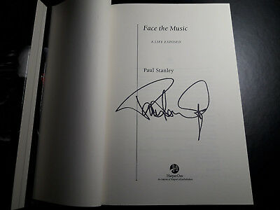 "PAUL STANLEY KISS Autographed Signed Book ""Face the Music"", hardcover."