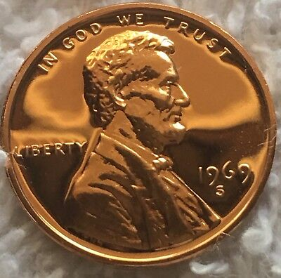 1969-S Proof Lincoln Cent Pulled From U.s. Mint Set Deep Mirror Finish Wow Look