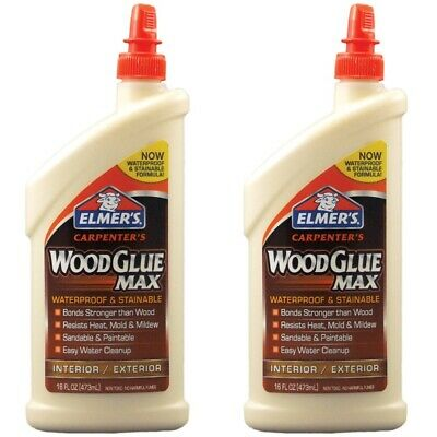 Wood Glue Carpenters Adhesive Interior/Exterior  Waterproof Elmer's 8-oz