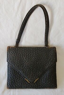 Antique Vintage 1910s-1920s Leather Pocketbook Small Purse Worn Still Intact