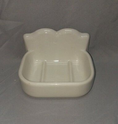 Vtg Ceramic White Porcelain Wall Mount Soap Dish Fixture 110-18F