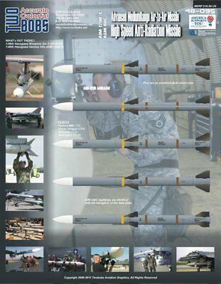 Two Bobs 1/48 48-095 AIM-120B/C and AGM-88 Missile Markings