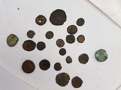 Lot coins coin antique primitive collect able vintage  ancient various very old