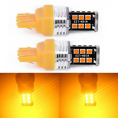 7440 Fits Amber 7443 Stop Led Indicator Signal T20 Car 2pcs. Light Bulb 2* Turn