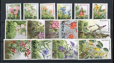 Kenya 1983 Flowers issue of 15 SG257//71 MNH