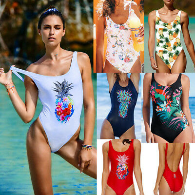 Women One Piece Push Up Backless Swimsuit Monokini Beachwear Swimwear Bikini Set