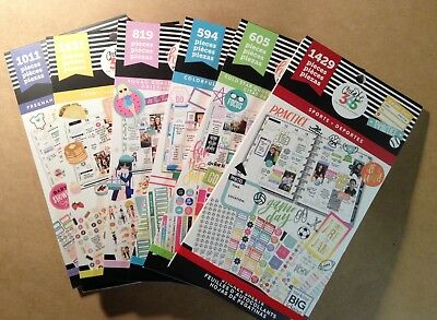 Set of the 6 NEW me & my BIG Ideas Sticker Books! Squad, Quotes, Boxes, Sports +