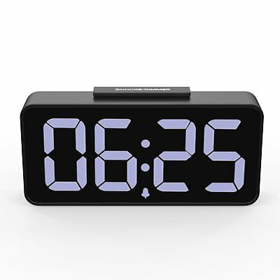 """MoKo 8.9"""" Large Display LED Alarm Clock w/ Snooze / 2 USB Ports Charger / Dimmer"""
