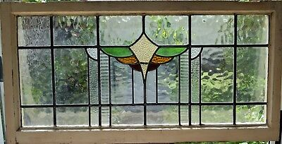 Antique Leaded English Stained Glass Huge Window Tiffany Style  England House 86