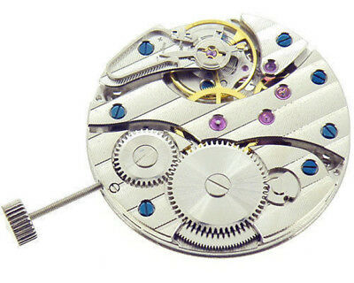 Hand Winding Watch Movement Asia Decorate 17 Jewels For  ST3600 6497