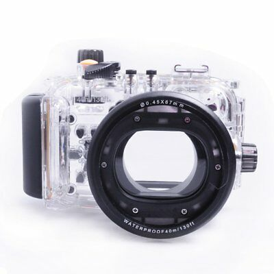 MEIKON 40m/130ft Waterproof Underwater Camera Diving Housing Case For Canon S120
