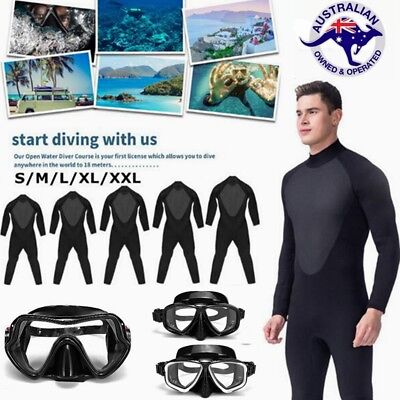 Men Diving Wetsuit Full Body Elasticity Snorkeling Scuba Mask Protective Goggles