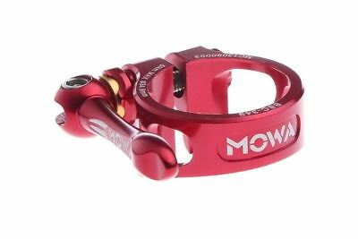 MOWA BSC Road Mountain Cyclocross Bicycle Bike Seatpost QR Clamp 34.9mm Red