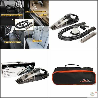 Portable 12V Car Vacuum Cleaner Handheld Duster Vac Dry And Wet Suction Hand