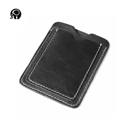 Men Genuine Leather Mini Slim Wallet ID Credit Card Holder Coin Purse Clutch Bag