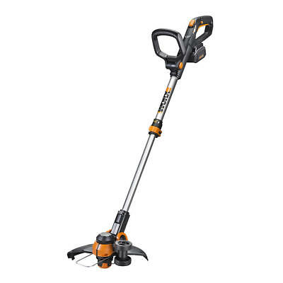 "WG180 WORX 40V 12"" Cordless Grass Trimmer 3.0 with Command Feed & Twin Wheel Set"