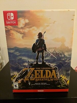 *new The Legend Of Zelda Breath Of The Wild Special Edition Nintendo Switch 2017