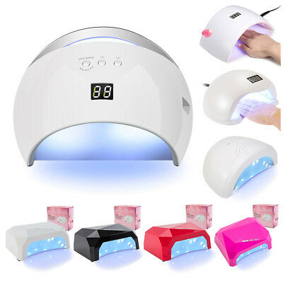 Pro LED UV Lamp Nail Dryer Light Art Curing Gel Timer Acrylic Polish 24/36/48W