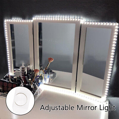 240 LED Touch Make Up Mirror Tabletop Cosmetic Vanity Light Up Bathroom Shaving