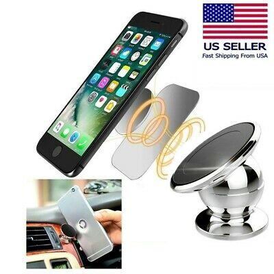 2-Pack Magnetic 360° Car Dash Mount Ball Dock Holder For Cell Phone Universal