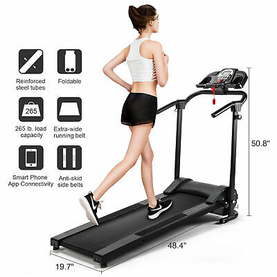 Folding Treadmill Electric Motorized Running Machine Home Gym