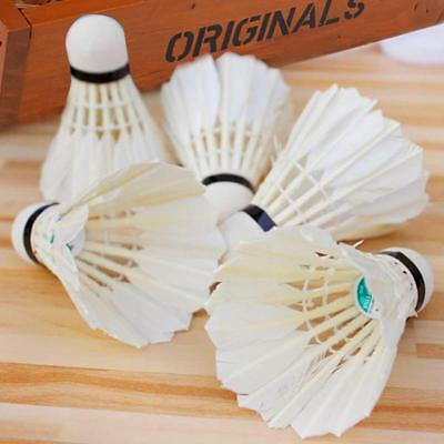 6pcs Training Sports Goose Feather Birdies Ball Game Shuttlecocks Badminton.