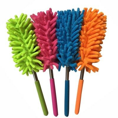 1Pc Extendable Telescopic Microfiber Cleaning Duster Feather Style Extend Brush
